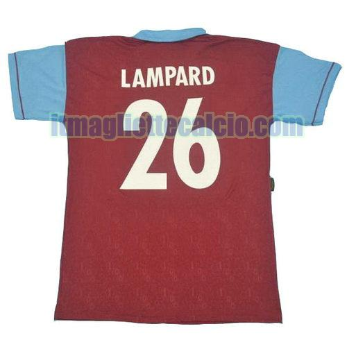 maglia west ham 1995 100th lampard 26 prima divisa